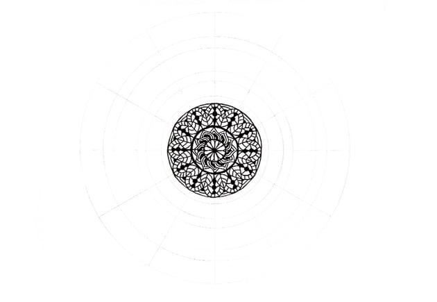 mandala more details in center