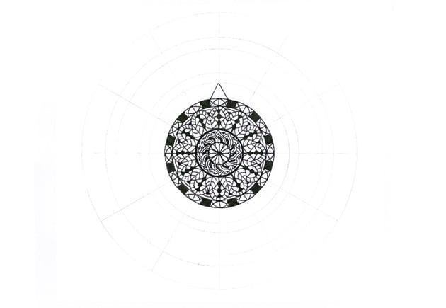 mandala triangle top