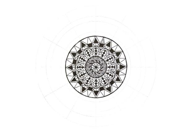 mandala contrast ornament