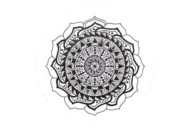 mandala clean frame petal