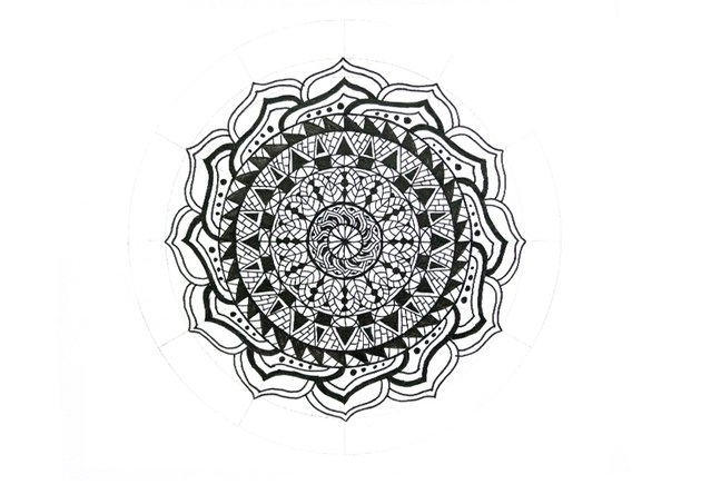 mandala petals with clean frame