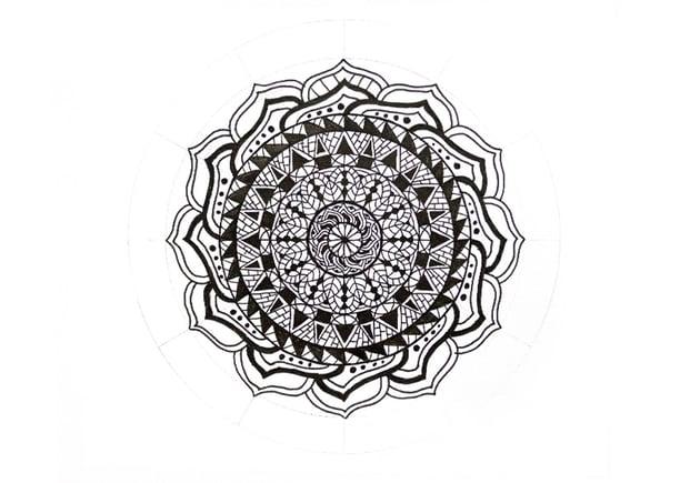 mandala simple pattern inside