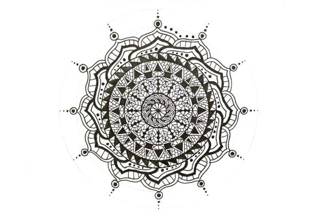 mandala circle boundary