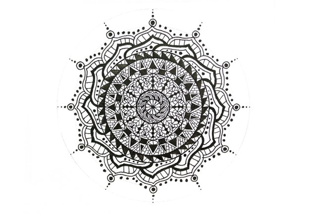 mandala circles row