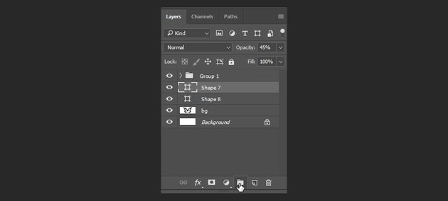 photoshop create a layer group