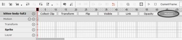 where to find timeline in crazytalk animator