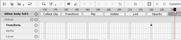 add distance between keyframes crazytalk animator
