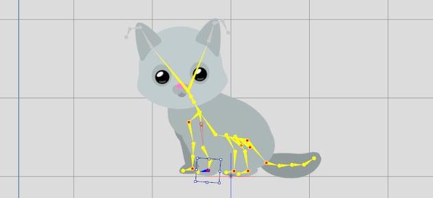 position the bones of character crazytalk animator