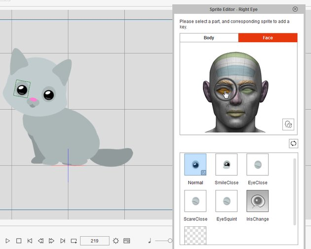 sprite editor change eyes to smile crazytalk animator