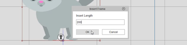 how to add more frames crazytalk animator