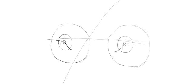 draw blion eyes guide lines