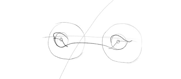 lion upper eyelid rim drawing