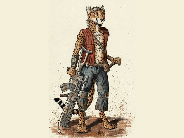 cheetah anthro furry 0laffson