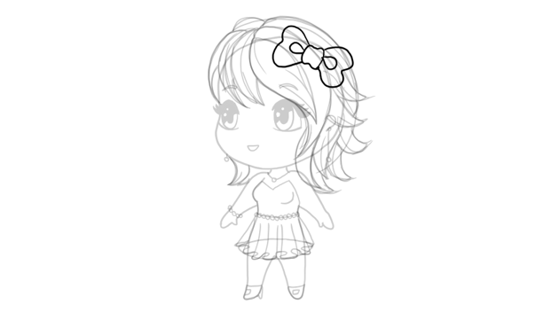 drawing chibi bow