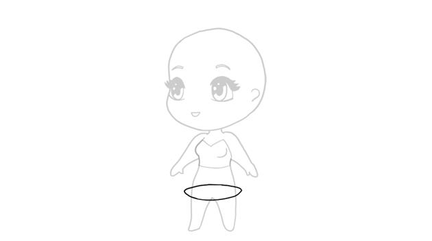 drawing chibi lower part of dress