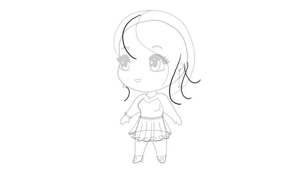 drawing chibi haircut rhythm