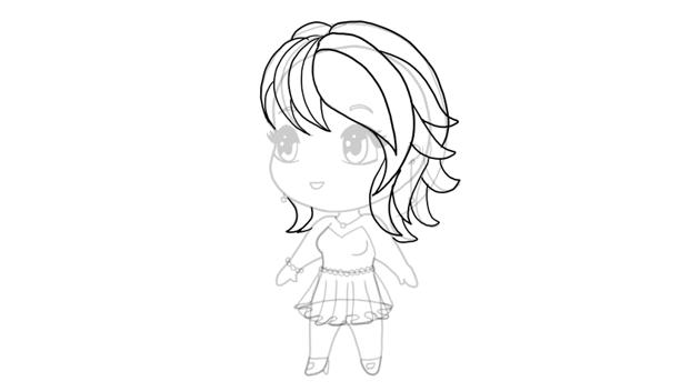 drawing chibi simple haircut