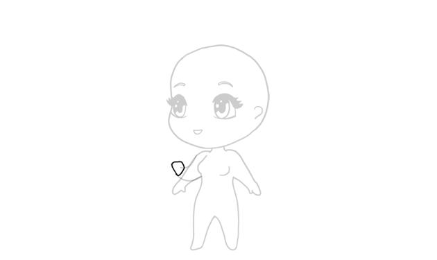 drawing chibi closed hand