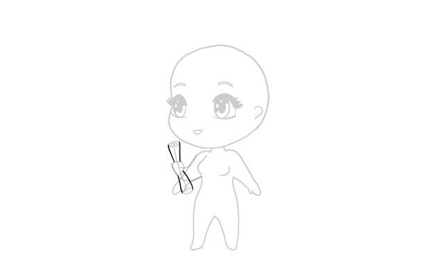drawing chibi dimploma roll
