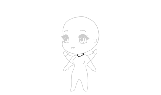 drawing chibi small collar