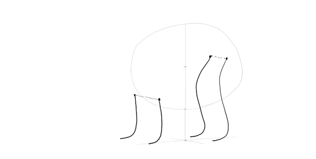 bear drawing legs rhythm lines