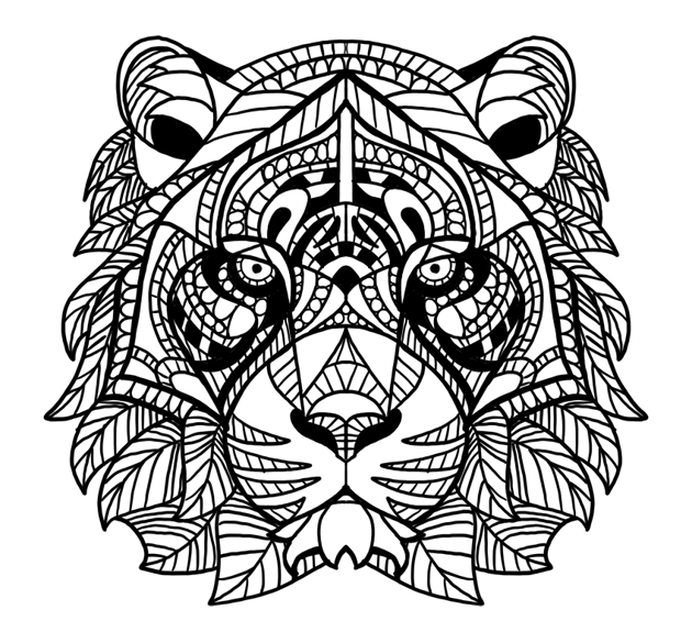 outline cheek pattern