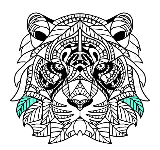 tiger face fur complete