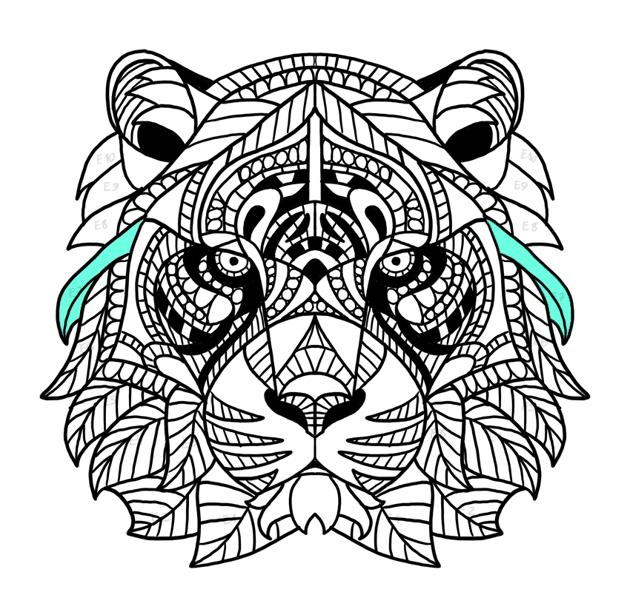tiger fur strands