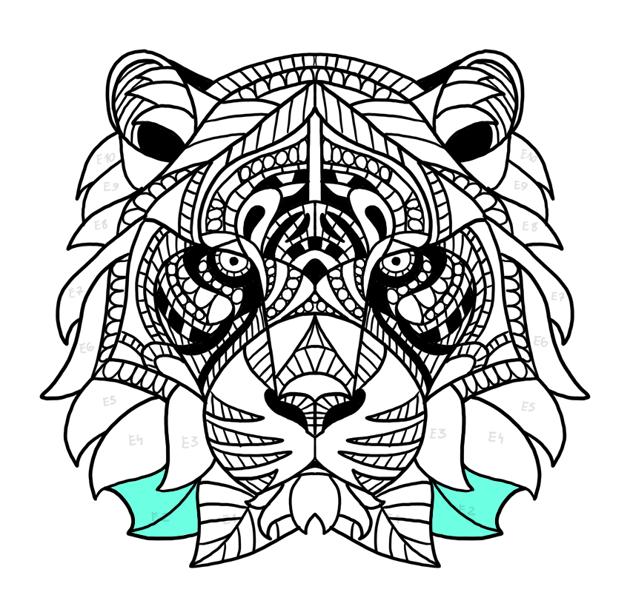 tiger fur simple