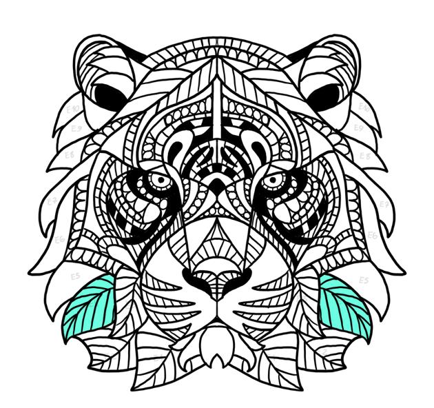 tiger fur sides complete