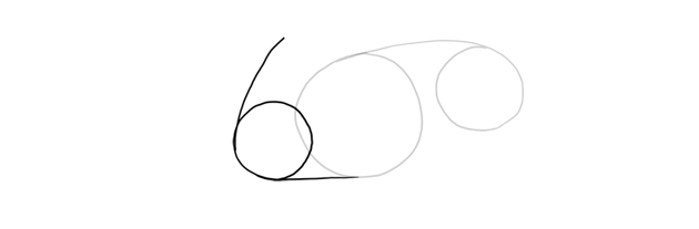 draw another circle for shoulder