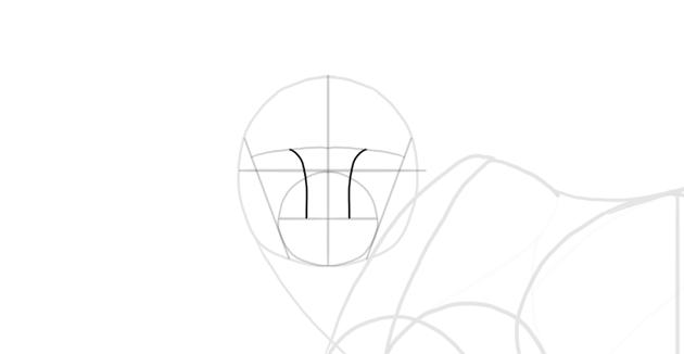 sketch the nasal bridge