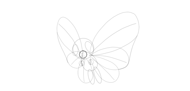 draw mouth of butterfree