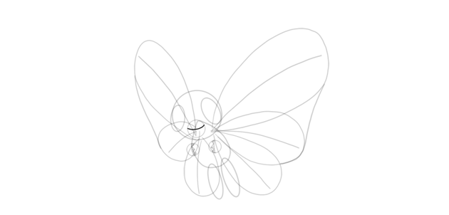 draw smile of butterfree