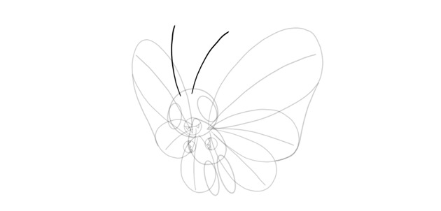 draw antennae of butterfree