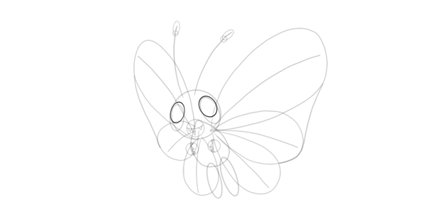 draw pupils of butterfree