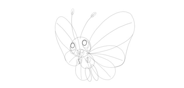 draw shine dots of butterfree