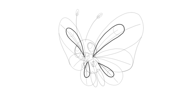 wing pattern butterfree