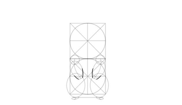 outline pikachu hands