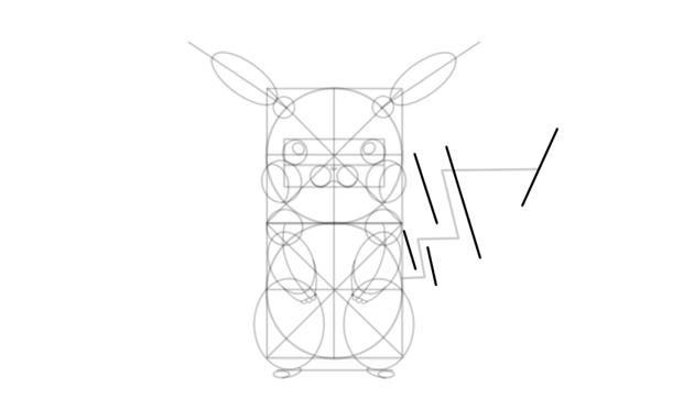 draw pikachu tail