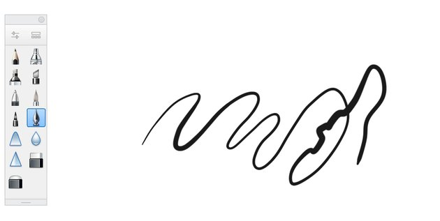 sketchbook inking pen