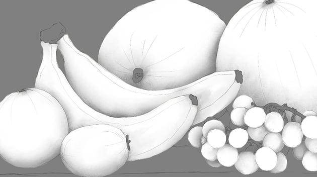 shaded bananas