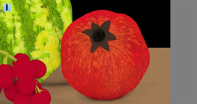 pomegranate pattern details