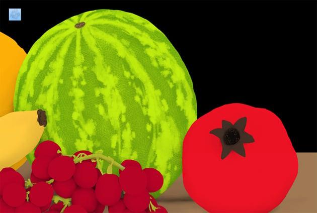 draw watermelon pattern