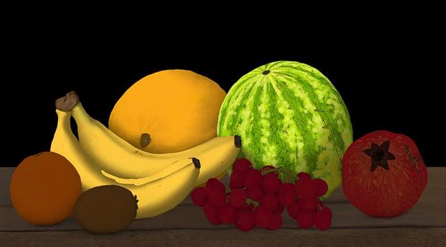 blend light on banana