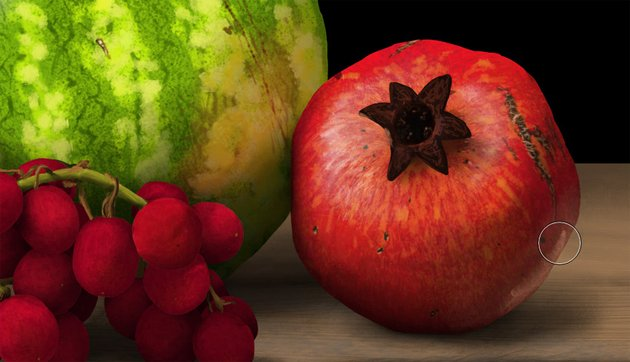 add reflected light to pomegranate