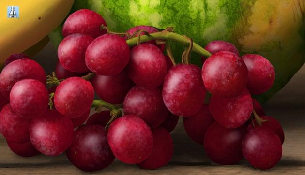 add shine to grapes