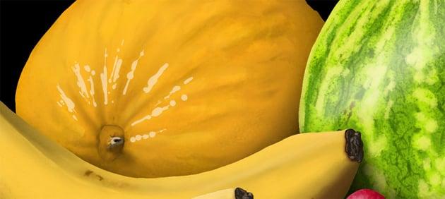 add shine to melon