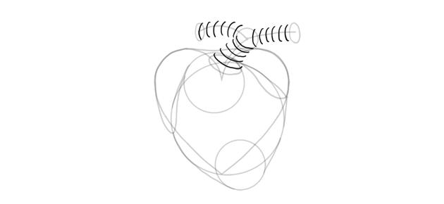 draw 3d shape of artery