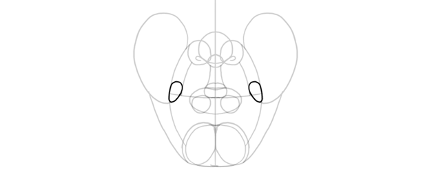 nodes in front